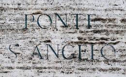 Streetsign Ρώμη Στοκ εικόνα με δικαίωμα ελεύθερης χρήσης