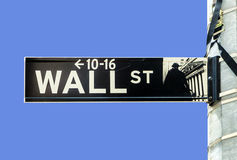 Streetsign de Wall Street Fotografia de Stock Royalty Free