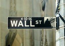 Streetsign de Wall Street Fotos de archivo libres de regalías