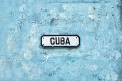 Streetsign di Cuba a Avana Fotografia Stock Libera da Diritti