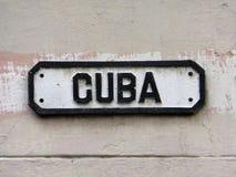 Streetsign på den gamla havannacigarren i Kuba Arkivfoto