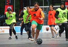 Streetsoccer Girls Royalty Free Stock Photography