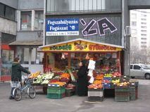 Streetstall, Kecskemet, Hongarije Royalty-vrije Stock Foto's