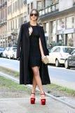 Streetstyle-Fotografen Mailand, Mailand Modewochen-Herbstwinter 2015 2016 Lizenzfreies Stockfoto