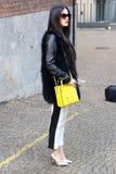 streetstyle hiver 2015 2016 d'automne de semaine de mode de Milan, Milan de Marzia di rosa Photo libre de droits