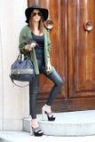 Streetstyle milano,milan fashion week autumn winter 2015 2016 Stock Photo