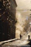 Streetsweepers, dust, San Miguel de Allende Stock Images