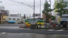 Streetview με το λεωφορείο Στοκ εικόνες με δικαίωμα ελεύθερης χρήσης