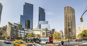Streetview στη Νέα Υόρκη στην πλατεία του Columbus στοκ φωτογραφία με δικαίωμα ελεύθερης χρήσης