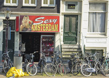 Streetview in Amsterdam Royalty Free Stock Photo