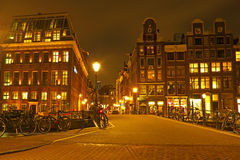 Streetview from Amsterdam in the Netherlands Stock Images