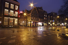 Streetview in Amsterdam Netherlands by night Stock Image