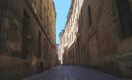Streetview in Bordeaux Frankrijk Royalty-vrije Stock Fotografie