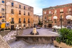 Streetview Cagliari, Sardinia, Italy stock images