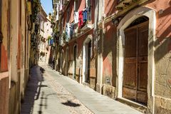 Streetview Cagliari, Sardinia, Italy stock photography