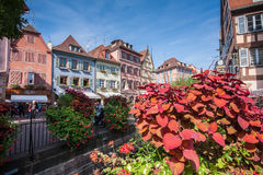 Streetview of Colmar Royalty Free Stock Images