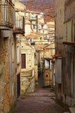 Streetview de San Donato di ninea image libre de droits