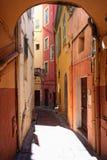 Streetview del menton Foto de archivo libre de regalías
