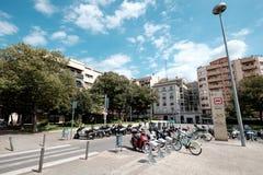 Streetview di Girona Fotografie Stock Libere da Diritti