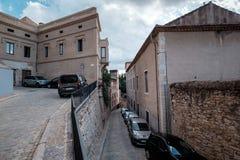 Streetview di Girona Fotografie Stock