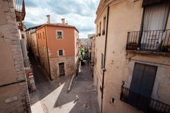 Streetview di Girona Fotografia Stock