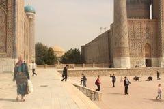 Streetview en Registan foto de archivo libre de regalías
