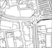 Streetview générique ci-dessus d'un secteur de ville d'affaires Photographie stock