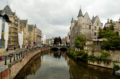 Streetview, Ghent, Belgium Stock Photo