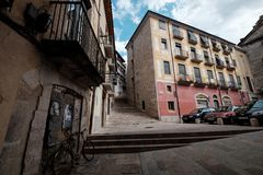 Streetview Girona Στοκ φωτογραφία με δικαίωμα ελεύθερης χρήσης