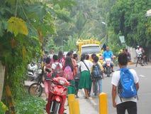 Streetview i Siquijor Filippinerna arkivfoto