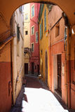 Streetview of menton Royalty Free Stock Photo