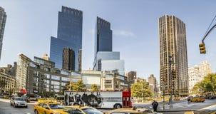 Streetview in New York bij het vierkant van Columbus royalty-vrije stock fotografie