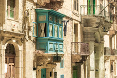 Streetview of Valletta Stock Photography