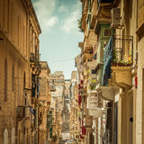 Streetview of Valletta Stock Photos