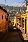 Streetview van Xela, Guatemala Stock Afbeeldingen