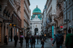 Streetview. Vienna center with people and archtecture Stock Photo