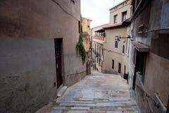 Streetview von Girona Stockfotografie