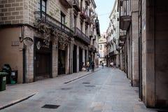 Streetview von Girona Lizenzfreies Stockfoto