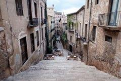 Streetview von Girona Stockfoto