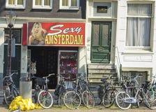 Streetview w Amsterdam Zdjęcie Royalty Free
