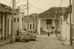 Streetview w Trinidad fotografia stock