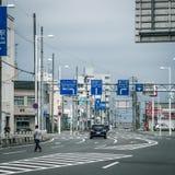 Streetview в wakkanai Стоковая Фотография