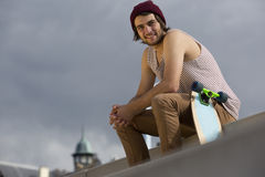 Streetwise skateboarder Royalty Free Stock Photography