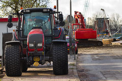 Streetwork - renewing the roads in the city Stock Photography