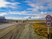 Strefa przemysłowa w Dalekiej północy Obraz Royalty Free
