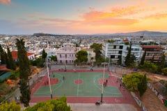 Strefi wzgórze, Ateny obraz stock