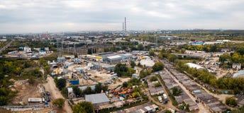 Strefy przemysłowa antena zdjęcia royalty free