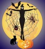 Strega di Halloween Fotografia Stock