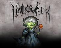 Strega di Halloween dell'eccentrico Fotografia Stock Libera da Diritti