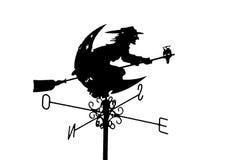 Strega di volo sul cielo Immagine Stock Libera da Diritti